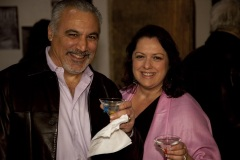 Bruce & wife with martinis