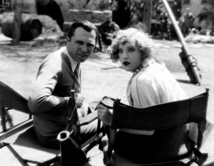 King Vidor on set