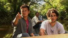 Oil & Water - Hugo Lucitante (left) and David Poritz see signs of oil development in Ecuador