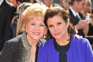 Actors Debbie Reynolds and Carrie Fisher arrive at the 2011 Primetime Creative Arts Emmy�� Awards held at the Nokia Theater L.A. Live. (Photo by Frank Trapper/Corbis via Getty Images)